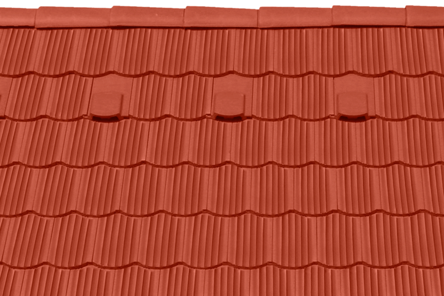 Tondach hornyolt hullámos ívesvágású tetőcserép piros
