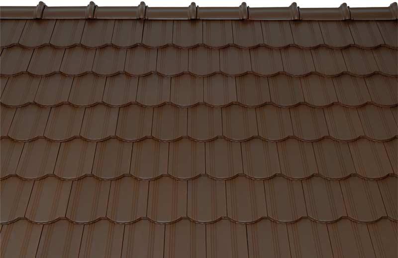 Tondach Kékes ívesvágású tetőcserép sötétbarna