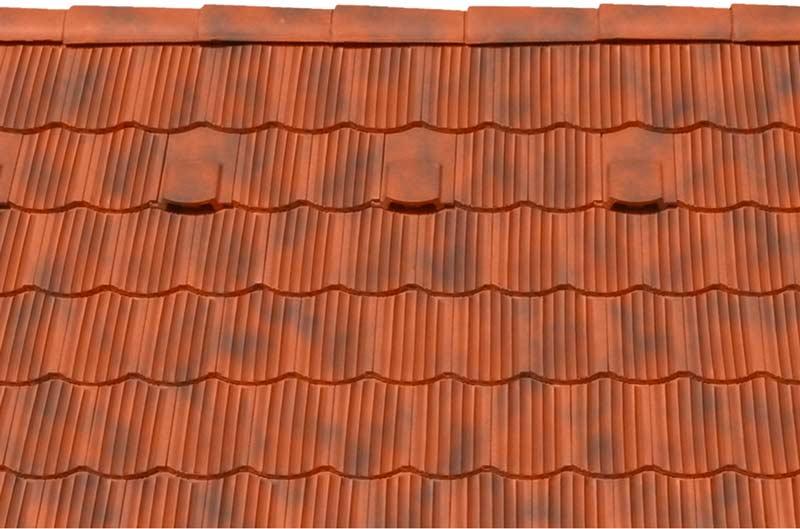 Tondach Zemplén ívesvágású tetőcserép antik