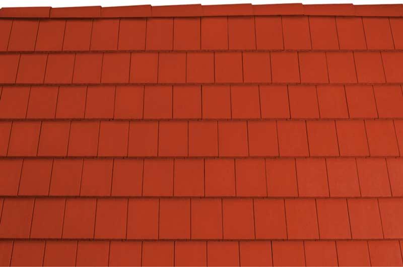 Tondach Pilis egyenesvagasú tetőcserép piros
