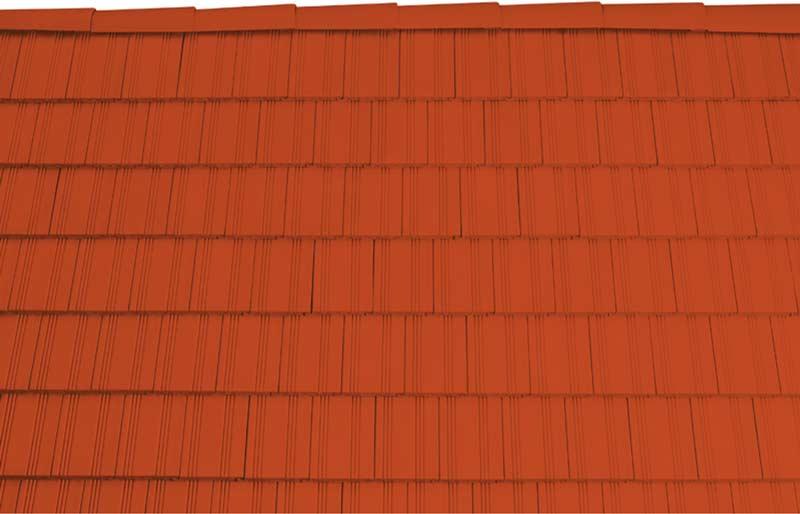 Tondach Kékes egyenesvágású tetőcserép piros