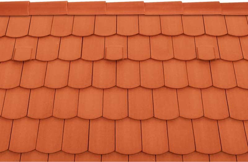 Tondach Pilis ívesvágású tetőcserép téglavörös