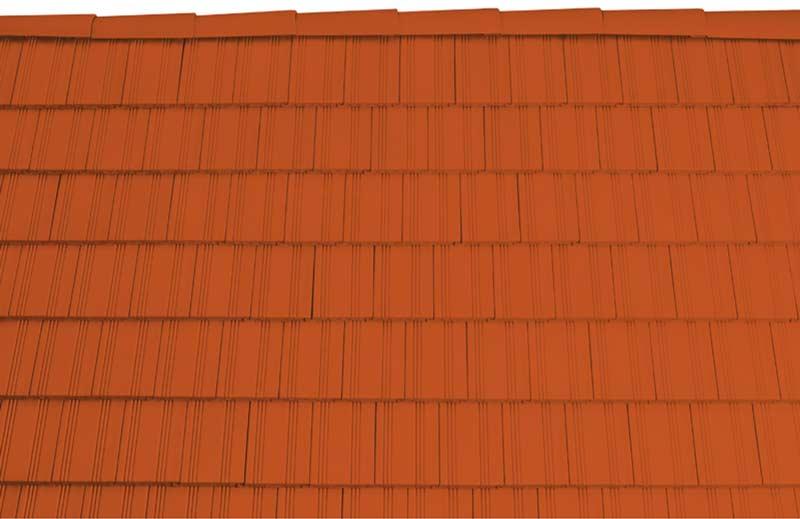 Tondach Kékes egyenesvágású tetőcserép téglavörös