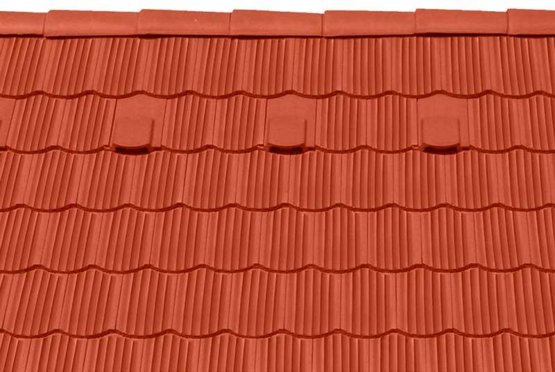 Tondach Zemplén ívesvágású tetőcserép téglavörös