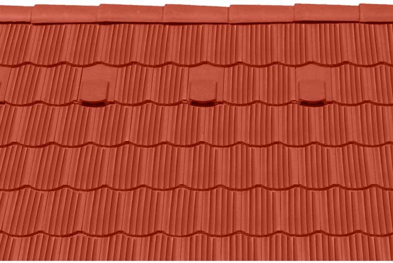 Tondach Zemplén ívesvágású tetőcserép piros