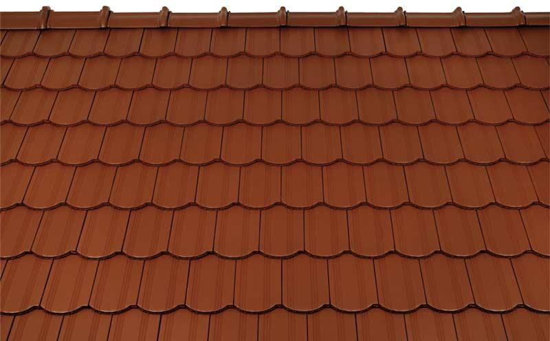 Tondach Kékes ívesvágású tetőcserép rézbarna