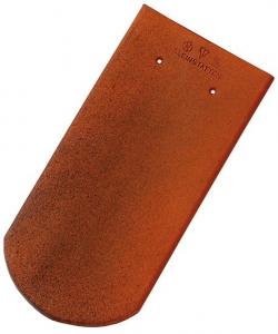 Tondach hódfarkú félköríves vágású alapcserép antik 19×40 cm