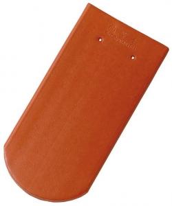 Tondach hódfarkú félköríves vágású alapcserép piros 19×40 cm