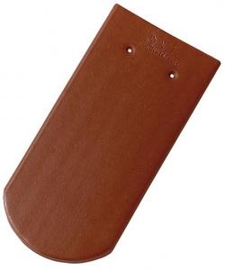 Tondach hódfarkú félköríves vágású alapcserép rézbarna 19×40 cm