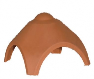 Tondach négyes gerincelosztó elem sajtolt sima gerinccseréphez terakotta