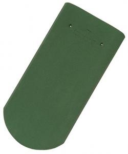 Tondach hódfarkú félköríves vágású alapcserép sötétzöld 19×40 cm