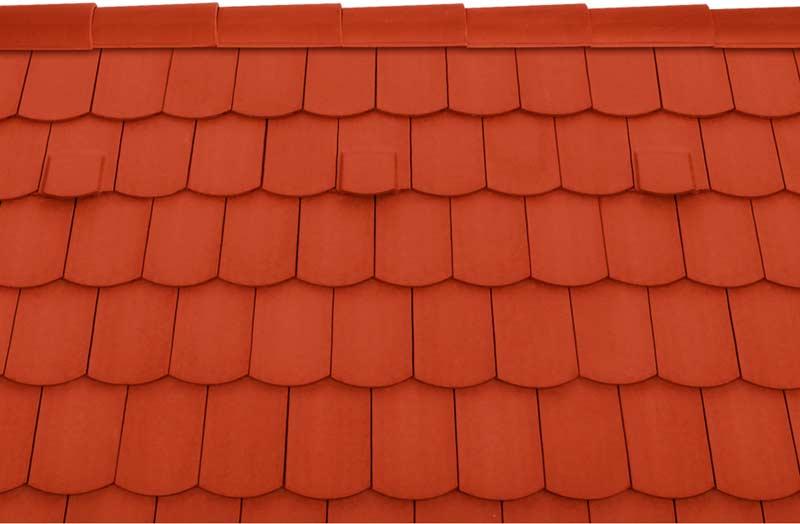 Tondach Pilis ívesvágású tetőcserép piros
