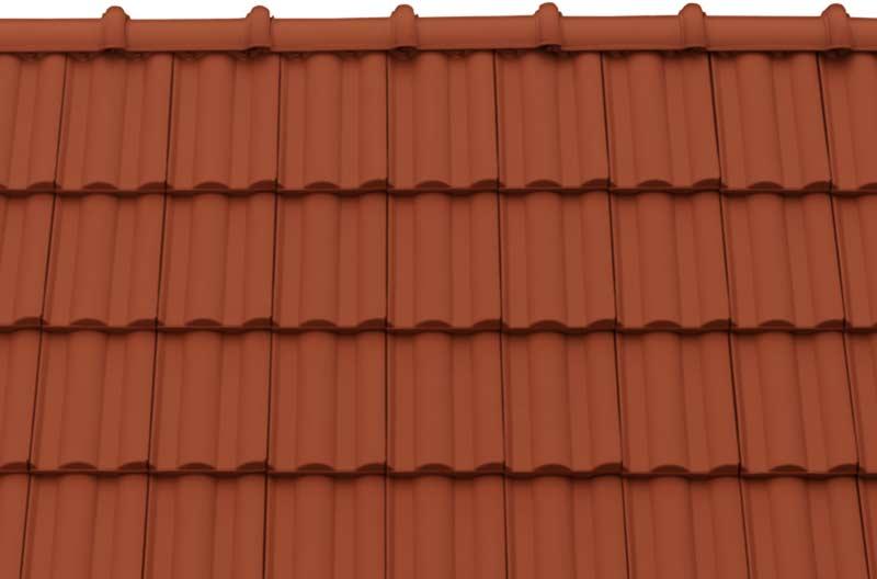 Tondach Twist tetőcserép rézbarna