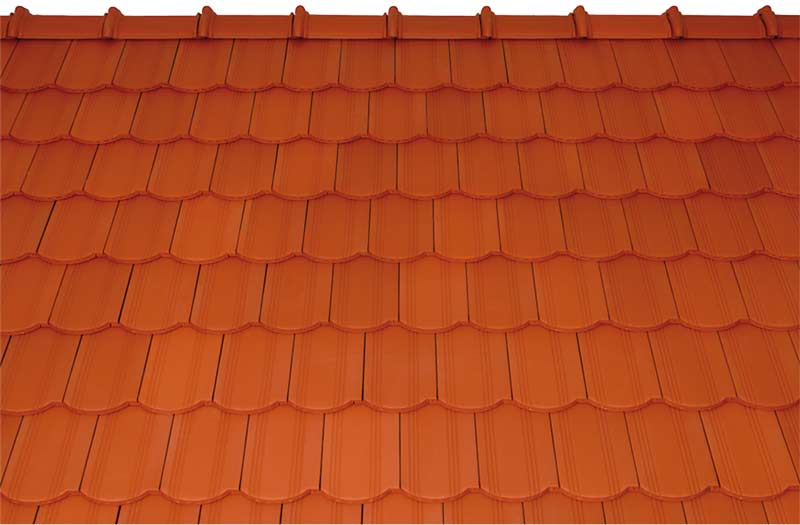 Tondach Kékes ívesvágású tetőcserép piros